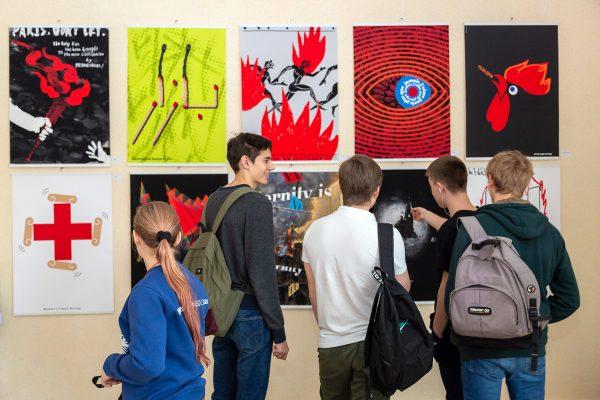 открытие выставки в знаменитом московском Лицее «Вторая Школа»