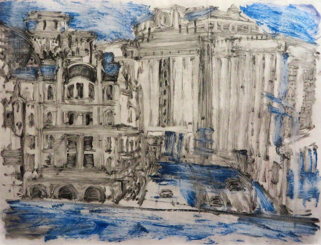 Богомолова Ольга. Москва. Центр. 2016. Монотипия. 37х49