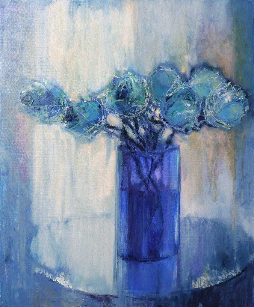 Голубые тюльпаны. 60х50 см