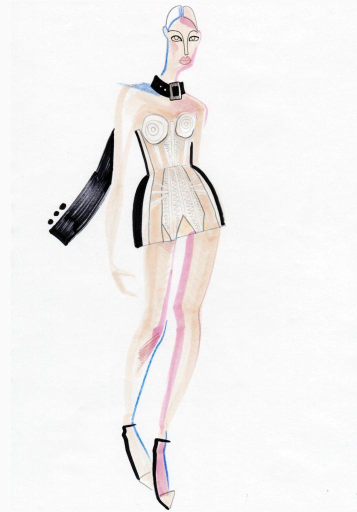 Работа посвящена финальному показу Jean-Paul Gaultier