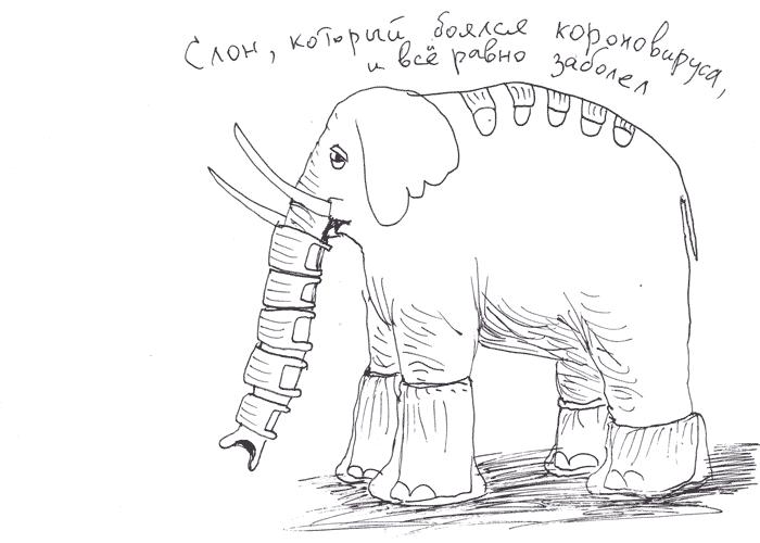 Слон, который боялся коронавируса и всё равно заболел / The elephant that was afraid of the coronavirus and still got sick